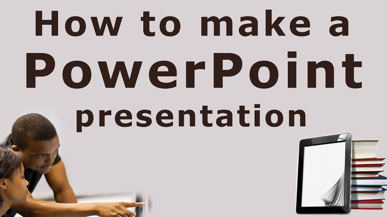How to make/create a PowerPoint presentation   Tutorial for beginners -  YouTube