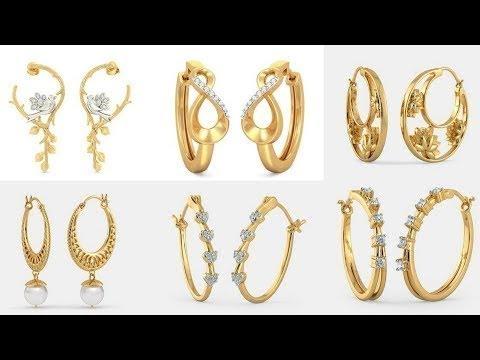 Latest Gold Hoop Earrings Designs Hoops Online India