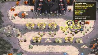 Kingdom Rush Level 12 - Barracks Only