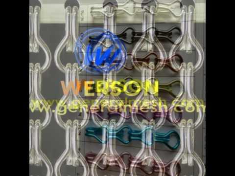 China Generalmesh Insektenschutz Kettenvorhang , Aluminium Kette Türvorhang, Braun,grau, Blau, Rot