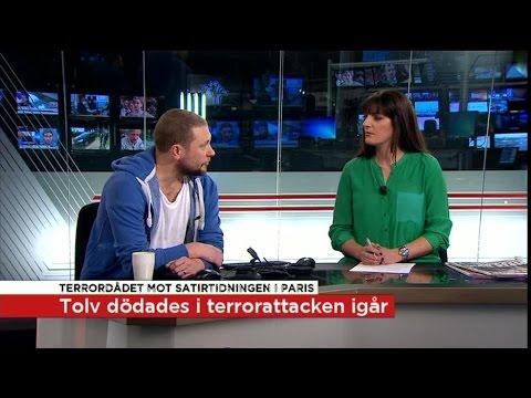 """Magnus Betnér: """"Humor kan vara en ventil vid kris"""" - Nyheterna (TV4)"""