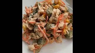 Салат с индейкой кукурузой сыром и чесноком рецепт приготування в описах