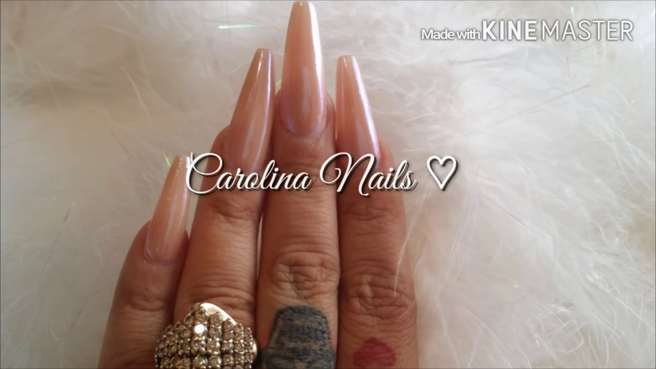 How to Fairy Dust Nails - YouTube