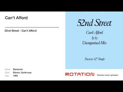 52nd Street - Can't Afford