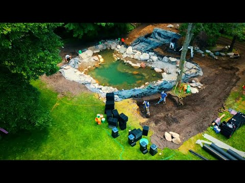 Building A Custom Pond With Intake Bay, Wetland Filter & Upflow System 2\3