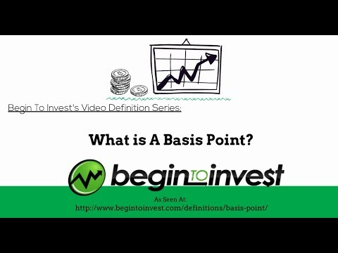 Basis Point - What Is A Basis Point? Begin To Invest Definition Series