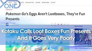 Kotaku Insists Pokemon Go Eggs Aren't Loot Boxes, They're Fun Presents... And It Goes Very Poorly