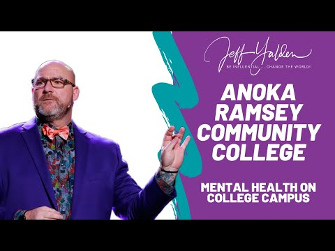 Mental Health Speaker Spends a Day at Anoka Ramsey Community College