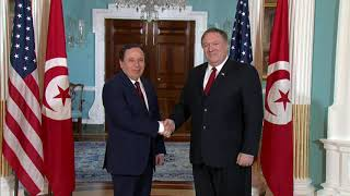 Secretary Pompeo Welcomes Tunisian Foreign Minister Khemaies Jhinaoui