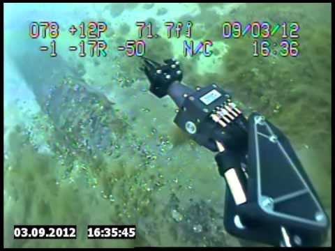 Diver Inspects Enbridge Pipeline in the Straits of Mackinac