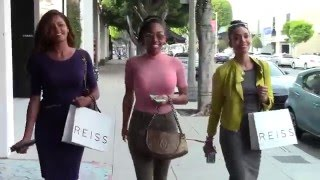 Claudia Jordan Shops With Her Girl Squad Actress Annie Ilonzeh and Chrissy Life in BH