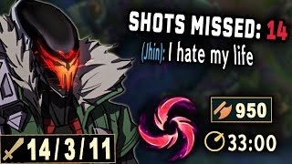 Missing your ults? Try Hail of Blades Jhin. The Ultimate Right Clicker