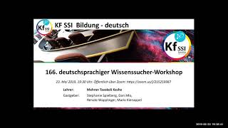 2019 05 23 PM Public Teachings in German - Öffentliche Schulungen in Deutsch