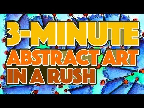 3-min. Abstract Art in a Rush // Speedpaint & Music