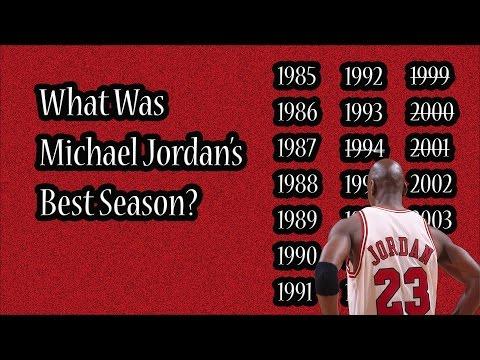 What Was Michael Jordan's Best Season?