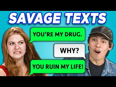 Teens Read 10 Savage Texts (React)
