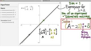 202.11a: Eigenvectors and Eigenspaces
