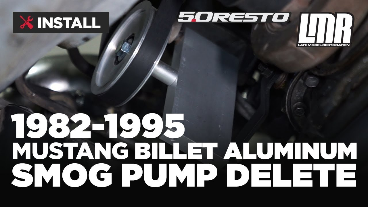 how to remove & delete mustang smog pump (1982-1995)
