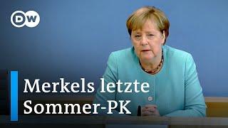Bundeskanzlerin Merkels letzte Sommer-Pressekonferenz | DW Deutsch