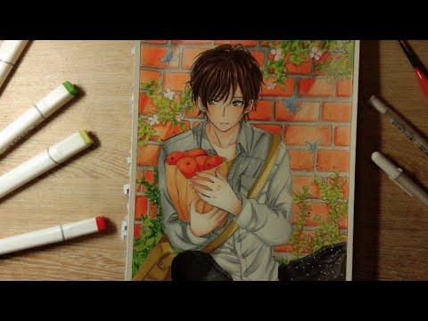 #Mei_Art. Vẽ anime boy . Tranh vẽ anime