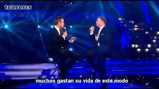 Robbie Williams Ft. Gary Barlow - Shame (LIVE) - Subtitulada al Español