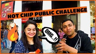 PAYING PEOPLE TO EAT WORLD'S HOTTEST CHIP | ONE CHIP CHALLENGE IN PUBLIC INDIA