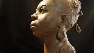 Nina Simone - Portrait Sculpture - start to almost finished - P. Barton, artist
