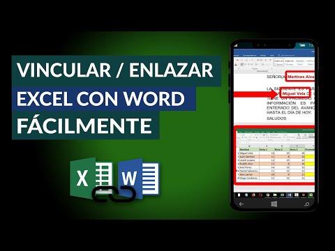Cómo VINCULAR o Enlazar Excel con Word Fácilmente