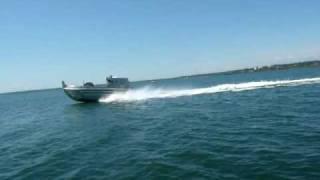 Hard Drive Marine sea trial twin Volvo D6 with Hamilton 241