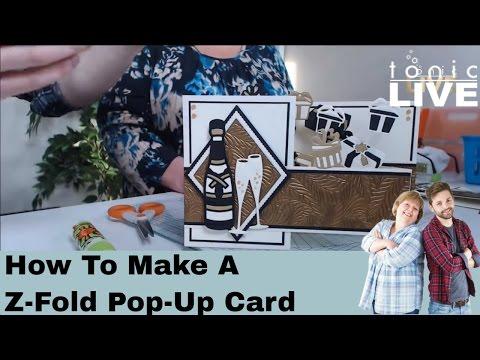 How to Make a Z-Fold Pop-Up Card - Tonic Studios Live Tutorial No.25