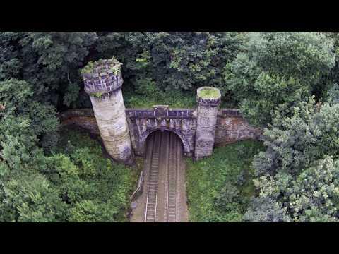 Bramhope train tunnel, Northern crenellated portal. Near Horsforth