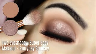 Beginners Eye Makeup Tutorial Using One Matte and One Metallic | How To Apply Eyeshadow