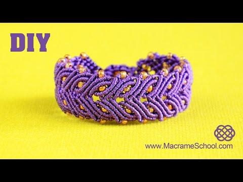 Laurel Leaf Bracelet Tutorial | Macrame School
