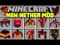 Minecraft NEW NETHER MOD! | TRAVEL TO NEW NETHER TO FIGHT BOSSES AND MOBS! | Modded Mini-Game