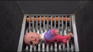 Shredding: Crying baby toy