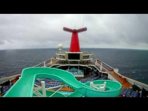 Carnival Slide Open Sea Bahamas trip