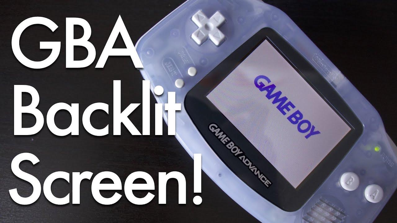 Game Boy Advance Backlit Screen Mod