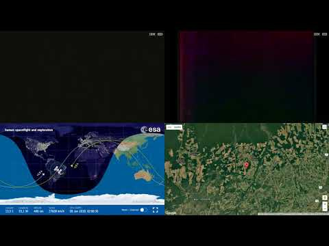South Atlantic And America Radiation Spot ISS Space Station Earth View LIVE NASA/ESA Cameras And 22