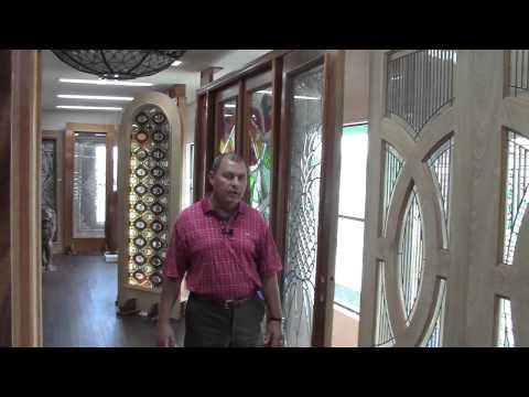 Arts & Craft Door, Prairie School Style Door, double circle, Tampa custom front entry door
