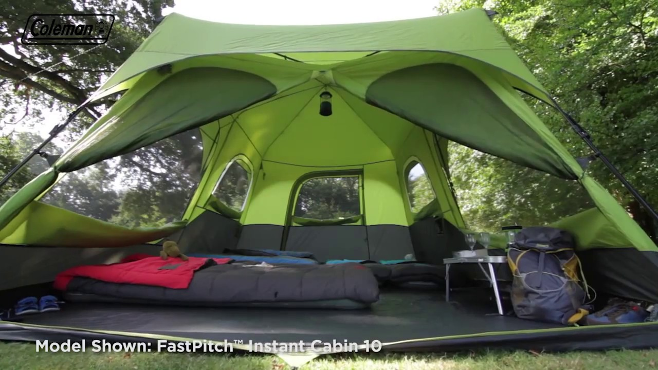 Coleman® FastPitch™ Instant Cabin 8 with Flysheet - EN & Coleman® FastPitch™ Instant Cabin 8 with Flysheet - EN - YouTube
