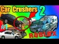 DESTROYING CARS IN ROBLOX! - Car Crushers 2 - ROBLOX w/ Lecookie
