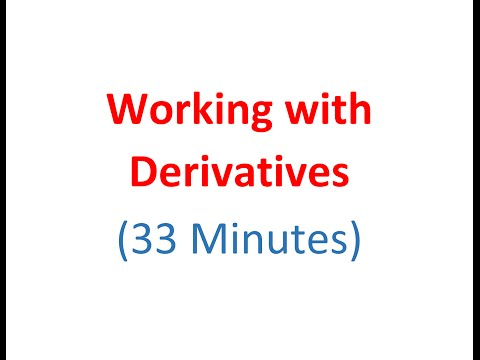 3.2 -  Working with Derivatives