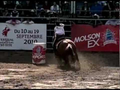 Course de barils femmes / Women barrel racing  / Festival Western de St-Tite : Finale Molson EX 2009