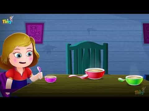 Goldilocks and Three Bears in Hindi  Fairy Tales and Hindi Kids Stories | तीन भालुओं की कहानी
