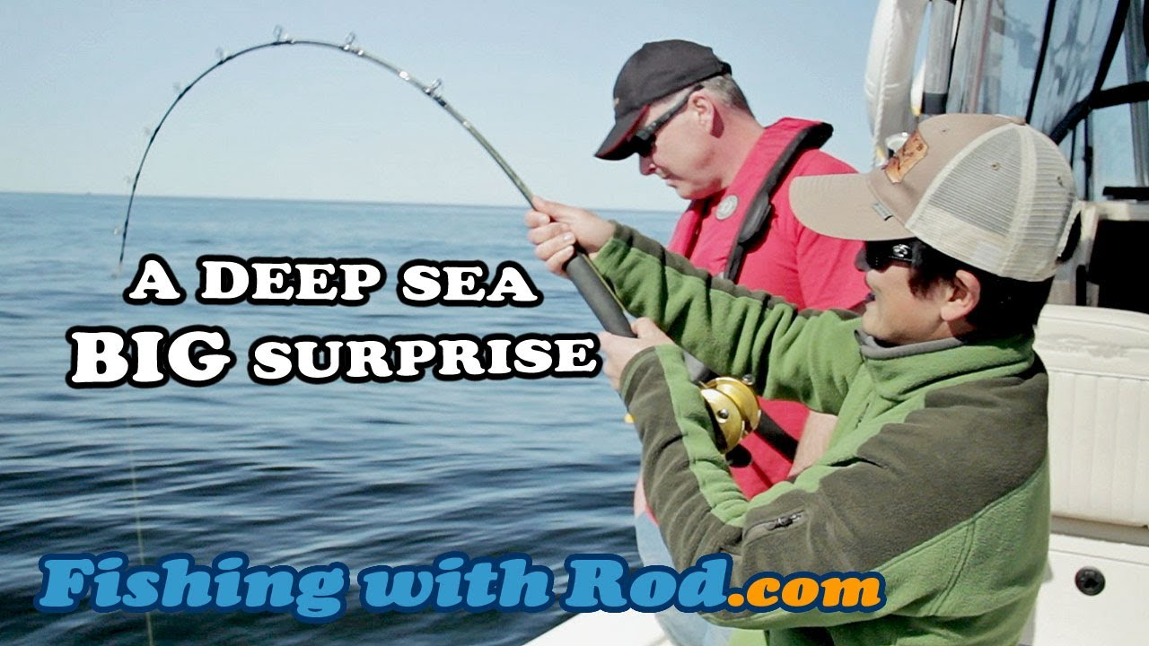 A deep sea big surprise fishing with rod youtube for Deep sea fishing poles