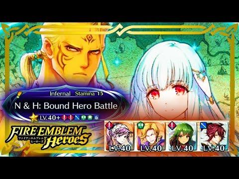 【Fire Emblem Heroes】Ninian & Hawkeye Infernal (3* & 4*) (F2P Units) (No SI) - English Version