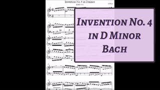 Invention No. 4 in D minor BWV 775 by J.S. Bach
