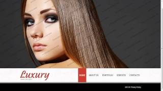 Hair Salon Website Template