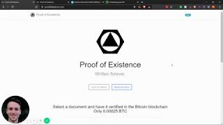 How to use the Bitcoin BlockChain | How to put a document on Bitcoin | Proof of Existence