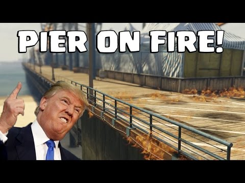 SANTA MONICA PIER IS ON FIRE | Thanks Donald Trump